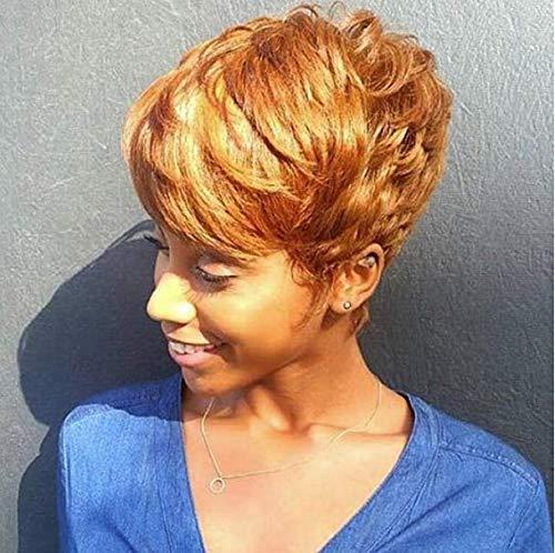 BeiSD Short Colorful Brown Wig Short Pixie Cuts Hairstyles Short Cosplay Wig Brown Wig Black Women Hairstyles