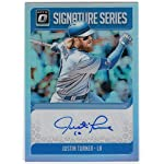 Justin Turner 2018 Donruss Optic Signature Series Prizm Refractor Auto Los.