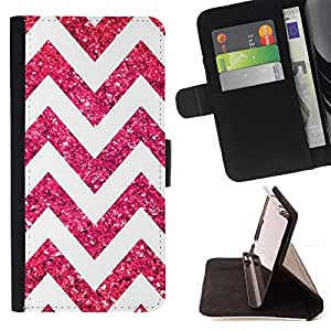 Jordan Colourful Shop - glitter white pattern chevron design For Apple Iphone 6 - Leather Case Absorci???¡¯???€????€????????&c