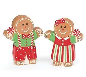 Burton & Burton Gingerbread Girl And Boy Salt & Pepper Shaker Set