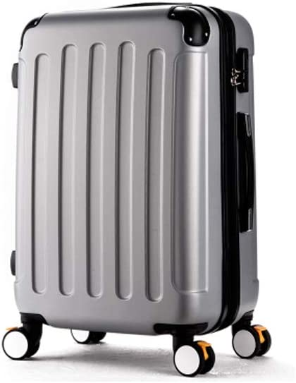 20//22//24//26 Inches Simple Color : Silver, Size : 20 Muziwenti Carry Suitcase Rotating Suitcase Simple and Black The Latest Style Hard Case
