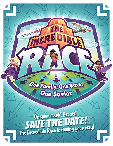 Save The Date Postcard - Pack of 40 - The Incredible Race VBS by Answers ()
