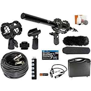Professional Advanced Broadcast Microphone and Accessories Kit for Canon EOS DSLR 5D Mark II III 6D 7D 7D II 77D 80D 70D…