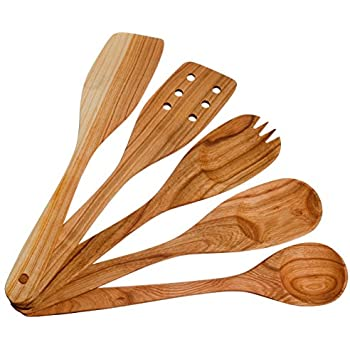 Amazon Com Handmade Utensil Set Wooden Cute Kitchen