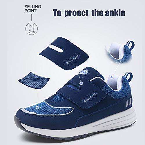 Marche Gym Respirant Respirantes Hommes Et Bleu Velcro On Chaussures Sport Jogging Absorbantes Fitness Course Lgres Slip Femmes Fonc De Baskets w6R11