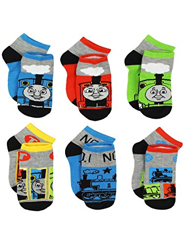 Thomas the Train & Friends Boys 6 pack Socks (2T-4T Toddler (Shoe: 4-7), Thomas Grey/Multi)