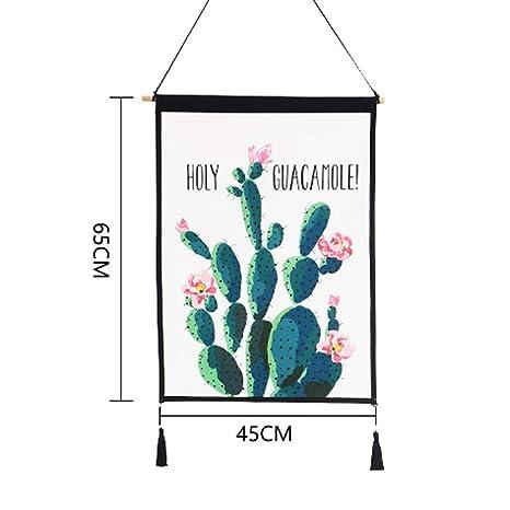 Colore : U Decorazione Decorativa della Parete della Tela Cerata della Pittura della tappezzeria guarnita tricottata Ampia 45CM Alto 65CM LIMING-arazzo Tapestry