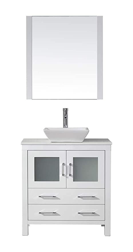 Virtu Usa Dior 32 Inch Single Sink Bathroom Vanity Set In White W
