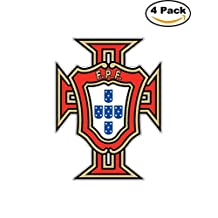Portuguese Football Federation Portugal Soccer Car Bumper Sticker Decal 4X5
