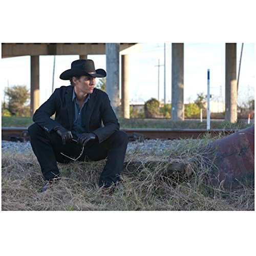 Killer Joe (2011) 8 inch by 10 inch) PHOTOGRAPH Matthew McConaughey from Ankles Up Seated Holding Sunglasses ()