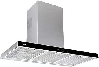 Teka DLH 986 T 701 m³h De pared Negro, Acero inoxidable A+ - Campana (701 m³h, CanalizadoRecirculación, A, A, C, 69 dB): 214.98: Amazon.es: Grandes electrodomésticos