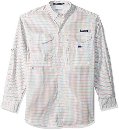 Columbia Men's Super Bonehead Classic Long Sleeve Shirt, Moxie Mini Check, X-Large