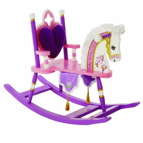 Wildkin Princess Rocking Horse, Features Removable Plush Cushion and Gilded Tassels, Perfect for the Little Princess in Your ()