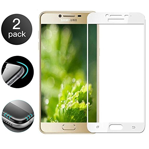 2-Pack] Tempered Glass for Samsung Galaxy C9 PRO, 3D Full