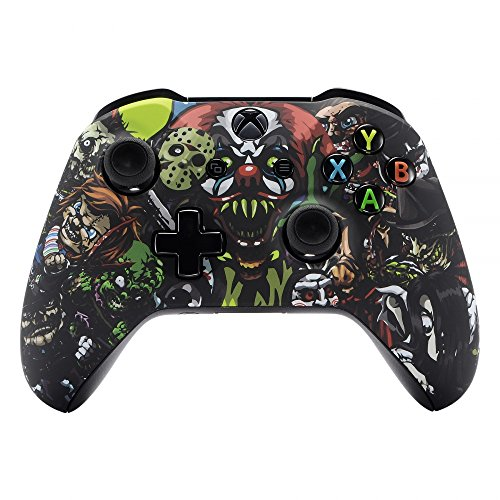 Extremerate Scary Party Bomb Faceplate Cover  Soft Touch Front Housing Shell Case  Comfortable Soft Grip Replacement Kit For Microsoft Xbox One X   One S Controller