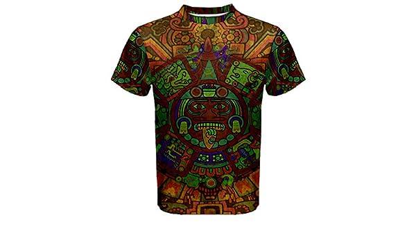 896d3010 Amazon.com : Aztec Ancient Code Trippy Hippie Psychedelic Full 3D  Sublimation Men T-Shirt Full 3D Custom Print T shirt Tees #002 : Sports &  Outdoors