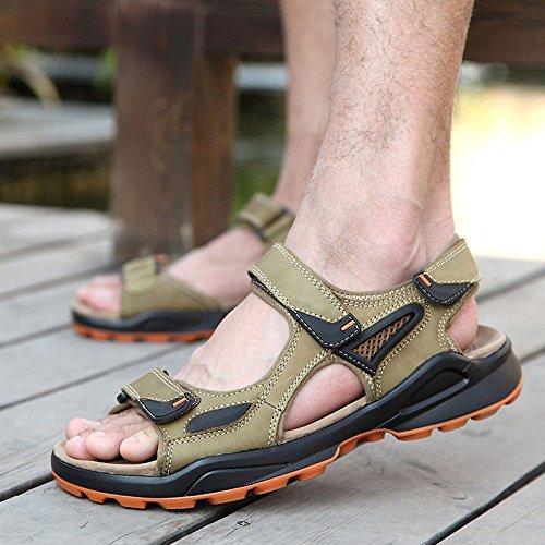 Zapatos Moda De Hombre Al Playa Sandalias Libre Aire Khaki Recortes rrqU4