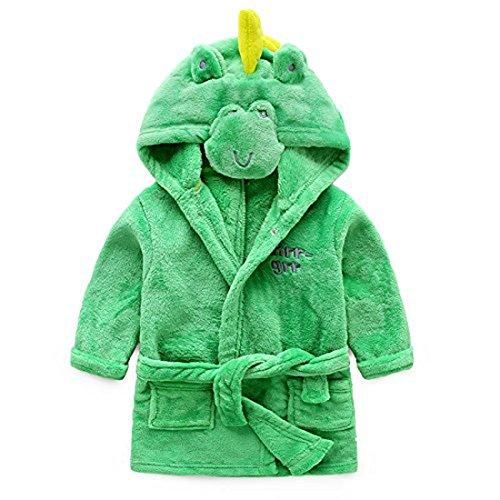 (Toddler/kids Hooded Plush Robe Animal Fleece Bathrobe Children Pajamas Sleepwear (9 - 18 Month,)