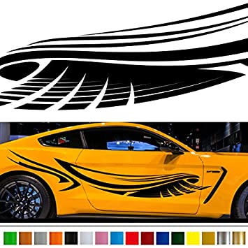 Wing car sticker car vinyl side graphics wa57 car vinylgraphic car custom stickers decals 【8