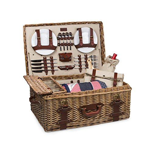 Picnic Time 'Charleston' Premium Picnic Basket with Deluxe Service for Four