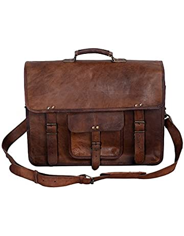 0f437f7f60cc KPL 18 Inch Vintage Men s Brown Handmade Leather Briefcase Best Laptop  Messenger Bag Satchel