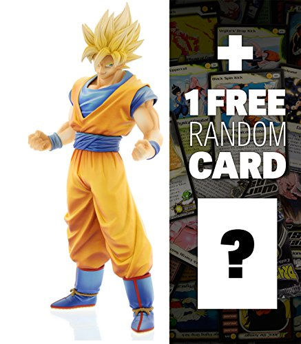"Son Goku (King of Coloring Ver.): ~9.8"" DragonBall Z Master Stars Piece + 1 FREE Official DragonBall Trading Card Bundle"