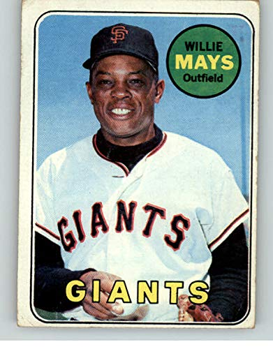 - 1969 Topps #190 Willie Mays Giants VG 362664 Kit Young Cards