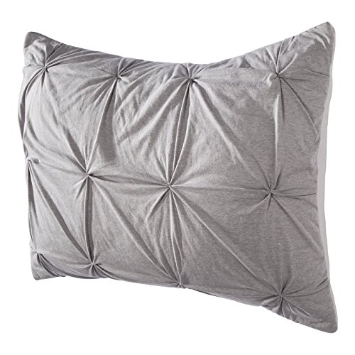 Room Essentials Jersey Quilted Pillow Sham, Gray, Standard (Jersey Quilted)