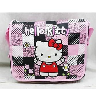 2f46c28da3b5 Black and Pink Checkered Hello Kitty Messenger Bag - Hello Kitty Laptop Bag   Amazon.co.uk  Toys   Games