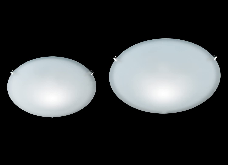 Deckenleuchte in Chrom mit weiß satiniertem Glas Honsel-Leuchten ASS II