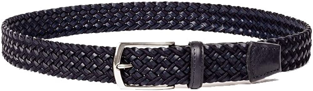Trafalgar Porter Braided Navy Leather Belt