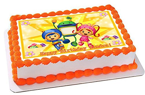 Astonishing Amazon Com Team Umizoomi Nr2 Edible Cake Topper 7 5 X 10 Personalised Birthday Cards Arneslily Jamesorg
