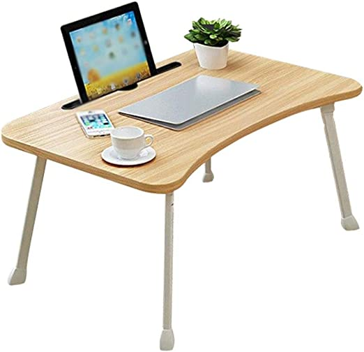Size : C Laptop Table Folding Student Dormitory Lazy Study Table