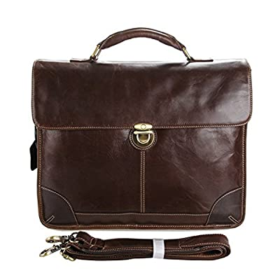 MuLier Messenger Satchel bag for men and women,Vintage canvas real leather 14-inch Laptop Briefcase for everday use 60%OFF