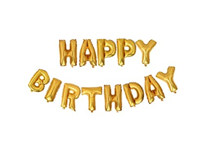 Amazon Air Filled Gold Letter Happy Birthday Balloons Toys