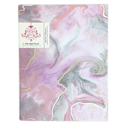 Mini Binder 3 Rings Be Chic Collection by Pink Light Design (Marble)