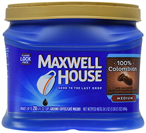 Maxwell House Ground Coffee, 100% Colombian, 24.5 Ounce