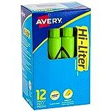 Avery HI-LITER 24010 Resaltador punta cincel, rosado, 12 Piezas