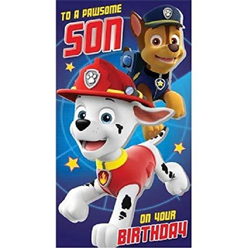 Paw Patrol - Tarjeta de cumpleaños para hijo: Amazon.es ...