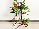 AIDELAI flower rack Pastoral Metal Flower Racks Indoor And Outdoor Living Room Balcony Decoration 4 Layers Flower Racks Patio Garden Pergolas (Color : #2)