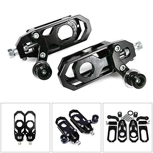 (Areyourshop Aluminum Chain Adjuster Fit for YZF R6 2008-2015 Black)
