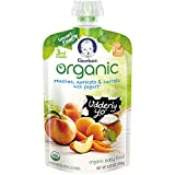 Gerber Purees Organic 3rd Foods Baby Food, Peaches, Apricots & Carrots with Yogurt Pouch, 4.23 oz