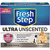 Fresh Step Ultra, Clumping Cat Litter, Unscented, 20 Pounds