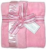 Raindrops Flurr Receiving Blanket, Pink