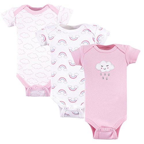 Luvable Friends Baby Preemie Bodysuit, 3 Pack, Girl Cloud