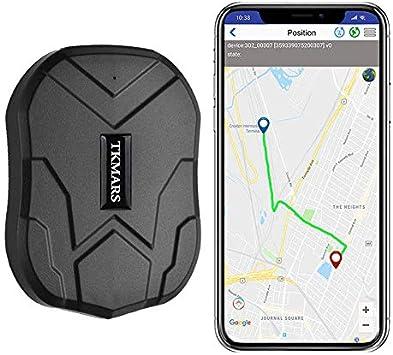 Winnes Localizador GPS para Coche, Tiempo Real GPS Tracker, Anti-perdido Impermeable Rastreador GPS para Totalizador Lost Find Aplicaciones Gratuitas para iOS y Android TKMARS 5000mAh 905: Amazon.es: Electrónica