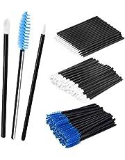 MagiDeal 150PCS Makeup Comestic Disposable Applicator Wand Set Mascara Eyelash Liquid Liner Eye Lip Brushes Kit - blue, as described