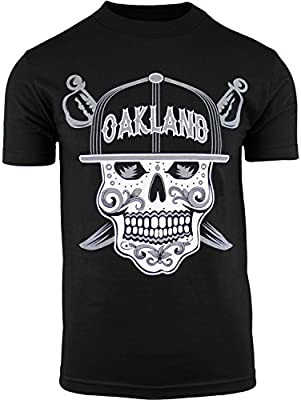 c2dec49fd96 Mens Day of The Dead Sugar Skull Oakland California Mens Shirt ...
