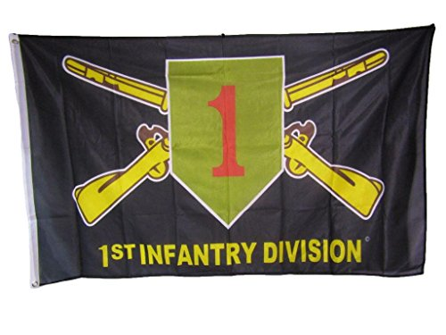 3x5 Army 1st Infantry Division The Big Red One Knitted Nylon Premium Flag 3'x5' PREMIUM Vivid Color and UV Fade BEST Garden Outdor Decor Resistant Canvas Header and polyester material FLAG
