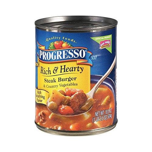 Progresso Rich & Hearty Soup - Steak Burger & Vegetables - 18.5 oz